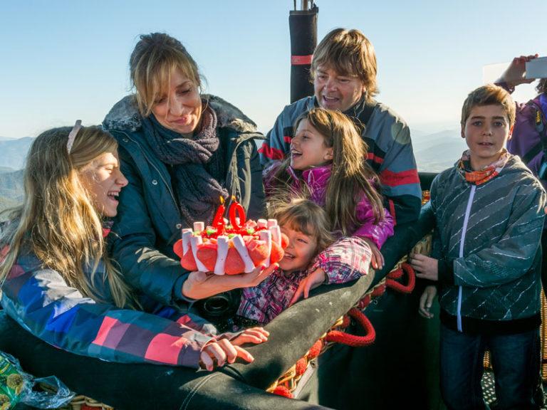 vuelo en globo con niños