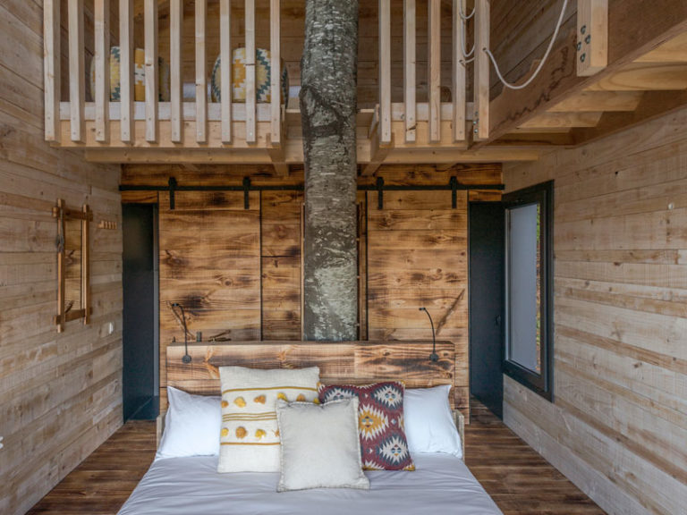 Tree house accommodation with kids