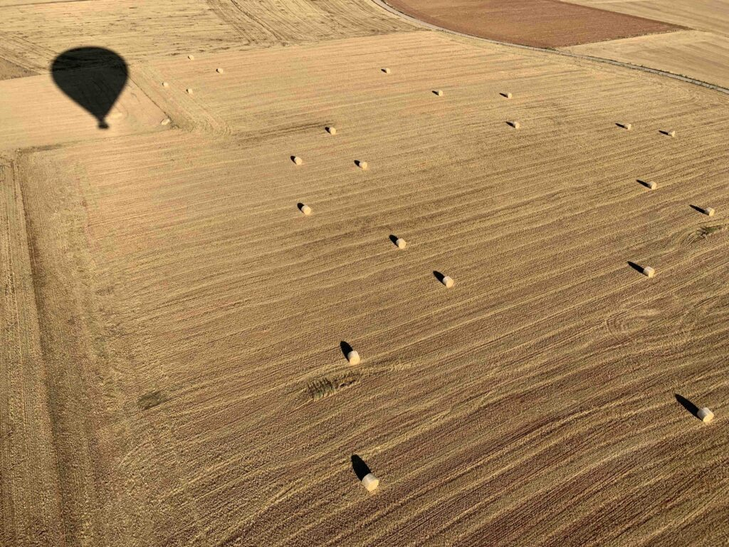 Hot air balloon ride during the summer